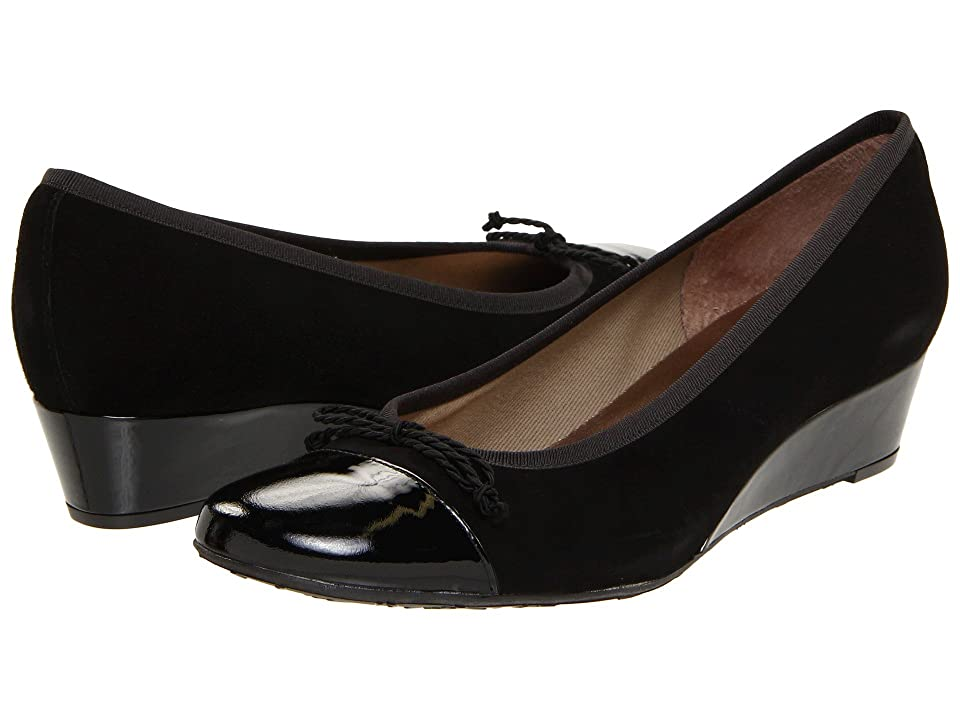 French Sole Diverse (Black Patent/Suede) Women