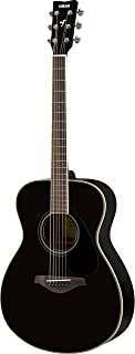 Yamaha FS820 Small Body Solid Top Acoustic Guitar, Black