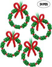 jollylife Christmas Beaded Ornament Kit - Xmas Party Craft Wreath Holiday Tree Decorations Kids Supplies 24PCS