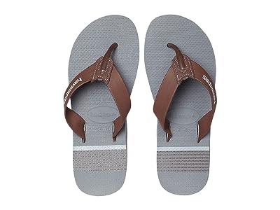 Havaianas Urban Craft Flip Flops (Grey/Dark Brown) Men