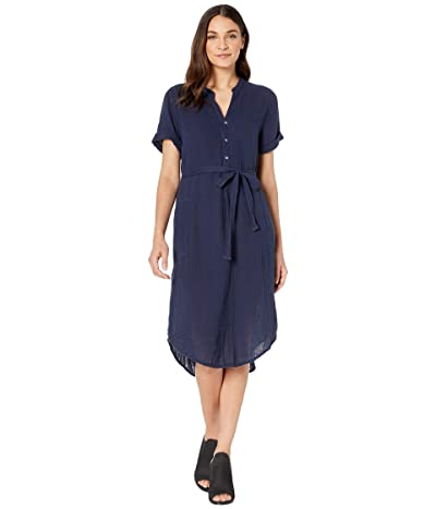Michael Stars Dinah Double Gauze Short Sleeve Midi Dress (Admiral) Women