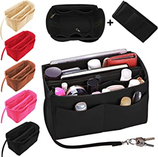 Purse Organizer Insert Felt Bag Organizer Handbag Tote Bag in Bag with zipper for LV Speedy Neverfull Longchamp