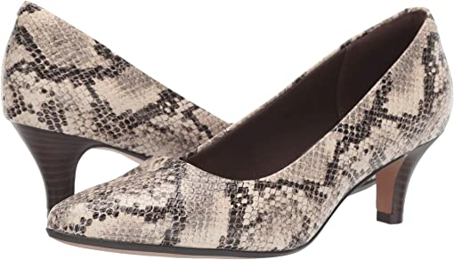 Taupe Snake Leather