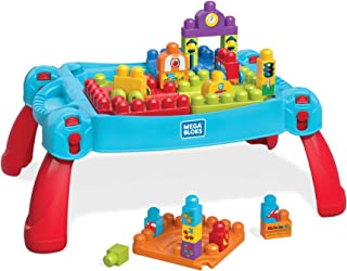 Mega Bloks Firt Builders Build 'n Learn Table, Building Toys for Toddlers (31 pieces) FGV05