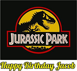 Jurassic Park Dinosaur Jurassic World Edible Image Photo Sugar Frosting Icing Cake Topper Sheet Personalized Custom Customized Birthday Party - 1/4 Sheet - 74167