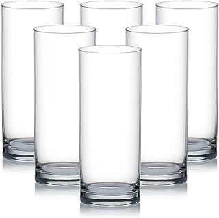 Ocean Fin Line Glass, Pack of 6, Clear, 355 ml, B01213