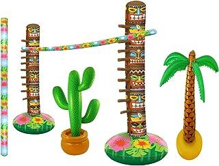 HENBRANDT Set bar gonfiabile limbo hawaiano Confezione da 1 Multicolore