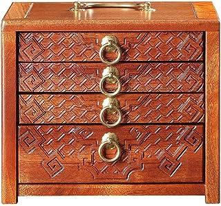 Organisateur de rangement pour boîte à thé Tiroir en bois massif Pu'er thé Boîte Rosewood à thé Multilayer maison Kung Fu ...