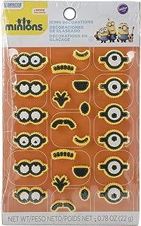 Wilton 710-4600 24 Count Despicable Me Minions Icing Decorations, Multicolor