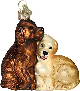 Old World Christmas Dog and Pet Accessories Glass Blown Ornaments for Christmas Tree Puppy Love