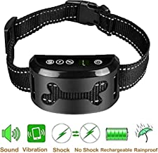 PEDLZ No Bark Collar for Small, Medium, Large Dogs - 2019 Upgraded - Stop Barking Collar with Vibration and Sound - Humane and Safe for Dogs and 100% Waterproof Design