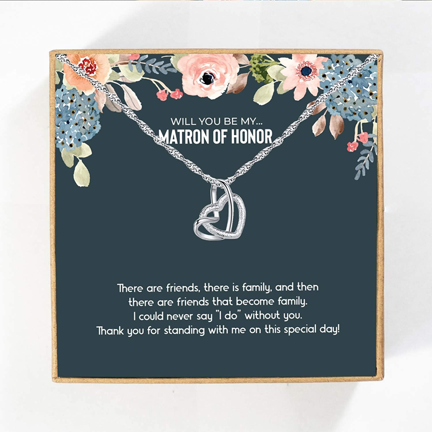 Matron of Honor Gift, MoH Necklace, Matron of Honor Proposal, Gift Box for Matron of Honor, Matron of Honor Necklace, Matron of Honor Card