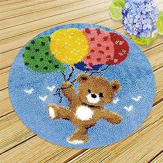 Crochet Loquet Tapis Kit, Bricolage Point De Croix BISCUITS Brodés Tapis Cartoon Animaux Motif Canapé Coussin Crochet Need...