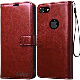 ef947ebf71 Bracevor Leather Case Flip Cover | Foldable Stand | Wallet Card Slots for  Apple iPhone 7