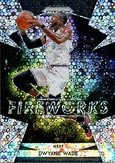 2018-19 Panini Prizm Fireworks Prizms Fast Break #8 Dwyane Wade Miami Heat Basketball Card