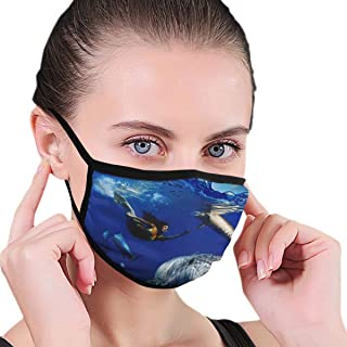 Dust Mask Colorful Underwater Coral Scene With Dolphins Fish - Reusable Comfy Breathable Safety Air Fog Respirator - For Blocking Dust Air Pollution Flu Protection