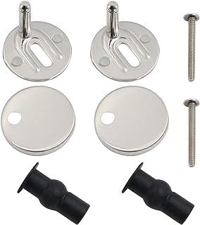 Bisagras tapa wc bisagras de asiento con tornillos accesorios/Replacement Toilet Seat Hinges para Montar y Fijar Todas las...