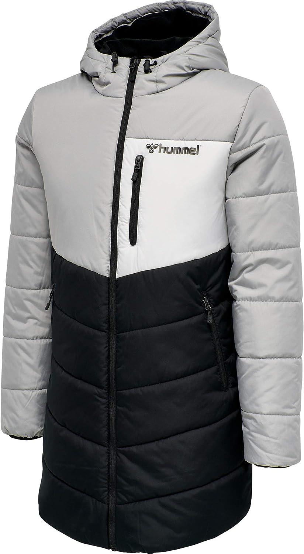 Hummel Mens Theo Retro Sport Padded Parka Coat Black XL