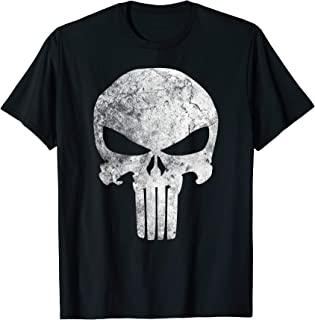 Punisher Skull Symbol Distressed Graphic T-Shirt T-Shirt
