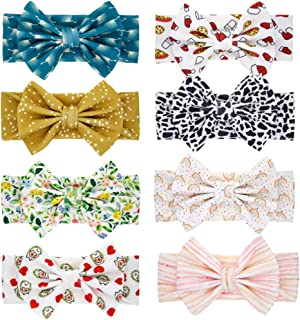 TOYANDONA 8pcs Kids Bowknot Headband Cute Rabbit Ears Headbands Baby Headband Set Kids Elastic Headwear Photo Prop Boys Girls