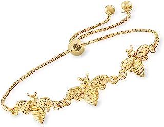 Italian 18kt Gold Over Sterling Bee Bolo Bracelet