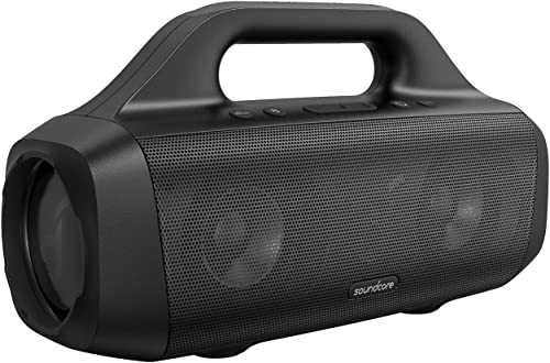 popular Anker Soundcore 2021 Motion Boom online sale Outdoor Speaker with Titanium Drivers, BassUp Technology, IPX7 Waterproof, 24H Playtime, Soundcore App, Built-in Handle, Portable Bluetooth Speaker for Outdoors (Renewed) sale