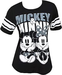 Disney Mickey Minnie Mouse Women's Football Style T-Shirt