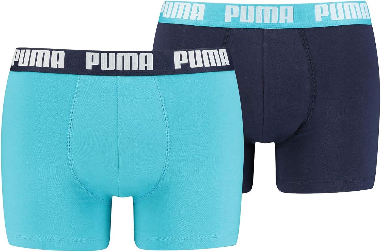 PUMA Mens Cotton Boxer Shorts Aqua/Blue