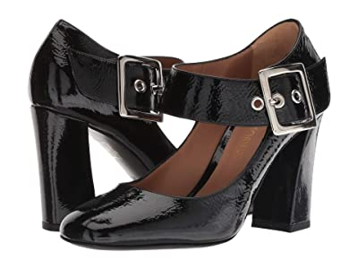 Emporio Armani 85m Buckle Heel (Black) High Heels