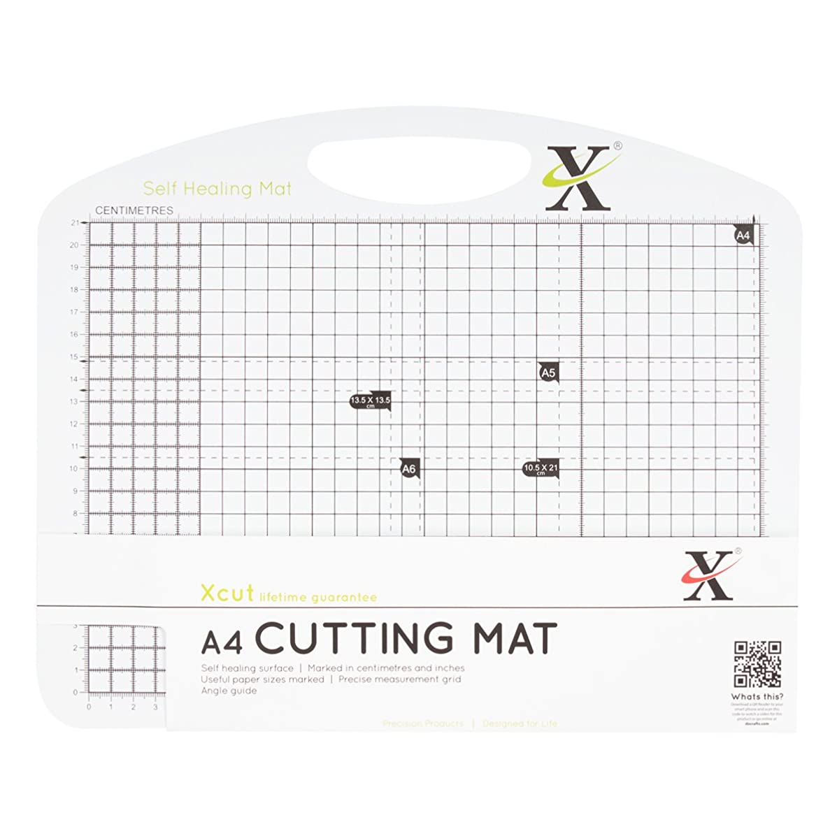 DOCrafts Xcut Duo Cutting Mat, A5, Black and White