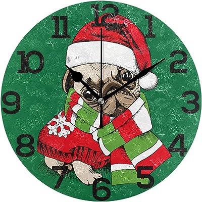 Kess InHouse Carina Povarchik Lechuzas Love Owls Green Wall Clock 12 Diameter