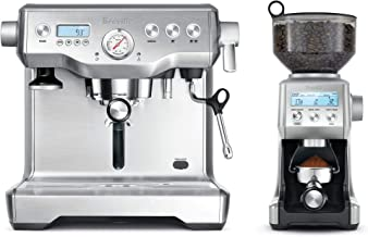 Breville Dynamic Duo - BES920 Dual Boiler Espresso Machine and BCG820 Smart Grinder Pro - BEP920 - Chrome