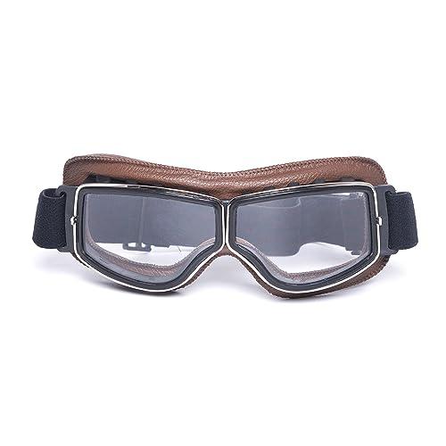 LEAGUE CO Lunettes de Moto  Aviateur  ATV  Ski  Équitation  Protection  Vintage Masque 53768c1fde8d
