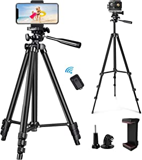 """Phone Tripod, Sumcoo 50"""" Extendable Cell Phone Tripod with Wireless Bluetooth Remote and Universal Phone Holder, Perfect f..."""