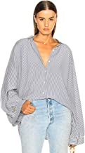 Nili Lotan Leah Shirt Button Down Blue White Stripe