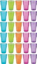 idea-station PP Plastik-Gläser Mehrweg 350 ml 30 Stück, Bunt
