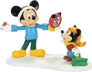 Department 56 Disney Village Mickey's Autograph Clock Accessory Figurine