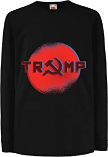 lepni.me Kids T-Shirt Trump Putin Russia, Hammer and Sickle Russian Symbol