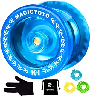 MAGICYOYO K1 Responsive Yoyo Ball, 3 Strings+Glove+Yoyo Bag, Crystal Blue