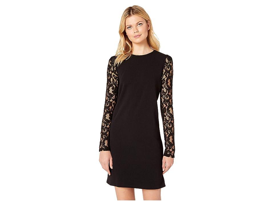 MICHAEL Michael Kors Lace Puff Long Sleeve Dress (Black) Women