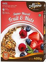 Alpino Super Muesli Fruit & Nuts 400 G (Whole Grain Breakfast Cereal)