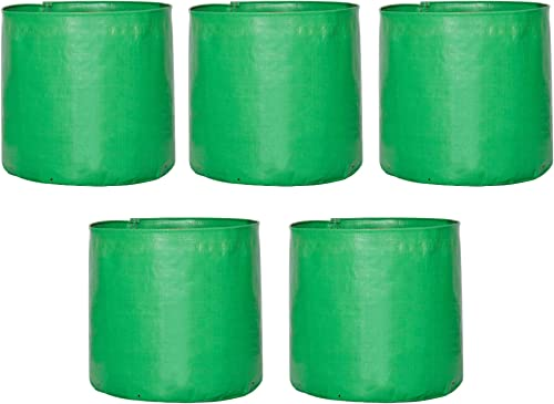 Leafy Tales HDPE Grow Bags, 12 x 12 inches, 5 Pieces, (Model: 12x12 Grow Bag - 5 pc)
