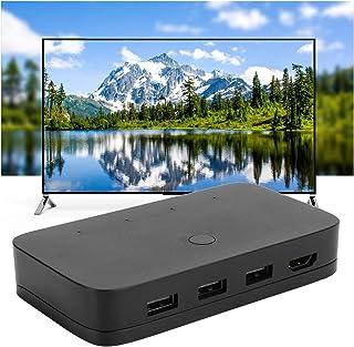 Gind Sélecteur de commutateur, Petit commutateur vidéo, système de réglage Automatique Pratique Console de projecteur TV p...