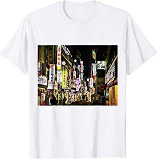 """Seoul at Night"" Korean Novelty Cartoon T-Shirt"