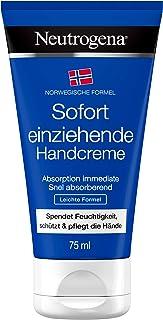 Neutrogena Norwegische Formel Sofort einziehende Handcreme, nicht fettende Feuchtigkeitscreme für trockene und rissige Hände 2 x 75 ml