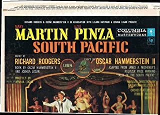 SOUTH PACIFIC - vinyl lp. MARY MARTIN - EZIO PINZA - DITES MOI - A COCK-EYED OPTIMIST - TWIN SOLILOQUIES, AND OTHERS.