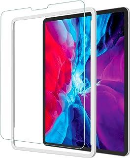 NIMASO フィルム iPad Pro 12.9 用 強化 ガラス 保護 ガラスフイルム (2021 第5世代 / 2020 第4世代 / 2018 第3世代) 対応 ガイド枠付き