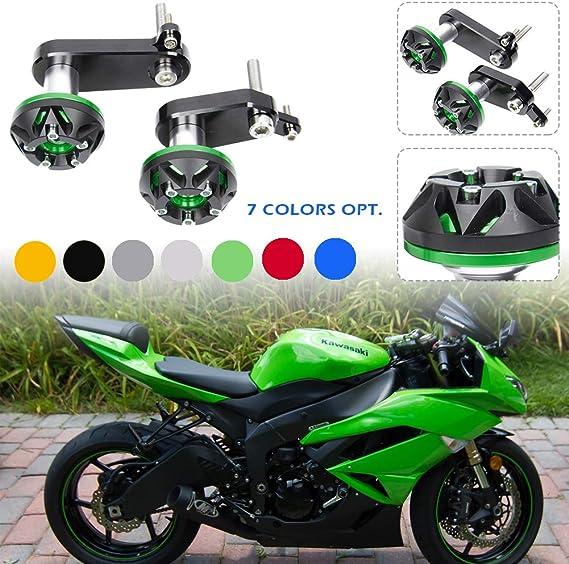 Lorababer Motorrad Zx 6r Rahmen Slider Sturzpads Protector Motorabdeckung Für Kawasaki Ninja Zx6r Zx 6r 2009 2010 2011 2012 Grün Auto