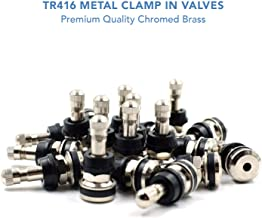 CK Auto 25 Pieces TR416 Metal Valve Stems Outer Mount Fits .453