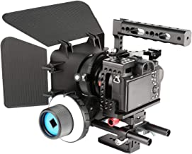 FANSHANG Aluminum A7RIII Camera Cage Kit Rig Video Stabilizer for Sony A7RIII A7III A7II A7RII A7SII A7 A9 DSLR with Top Handle, Follow Focus,Matte Box,Quick Release Base,15mm Rods